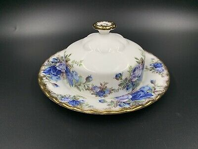 Royal Albert Moonlight Rose Butter Dish Bone China England Like New