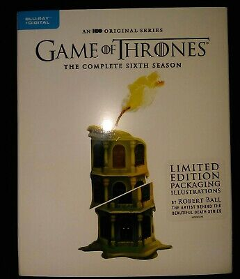GAME OF THRONES SIXTH SEASON BLU RAY/digital LIMITED ED. Pack, Brand new sealed