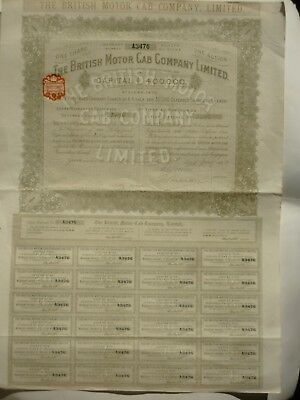 action de préference 4 Livres The British Motor Cab Company Limited 1910