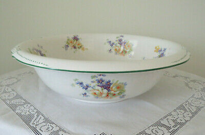1890's Grimwade Bros Transfer Ware ROSES  Wash Basin Bowl - Excellent Condition
