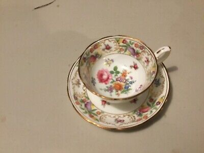 Pretty hammersley dresden spray flowers cup and saucer