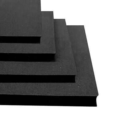 BLACK Solid Rubber Sheeting / Mat Matting VARIOUS THICKNESS & SIZES