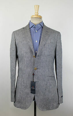New PAL ZILERI CONCEPT Gray Linen 3/2 Button Sport Coat Size 56/46R Drop 8 $950