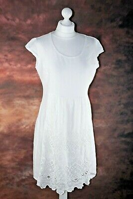 0f36f30ede0 LINA TOMEI made in italy crisp white linen dress size L