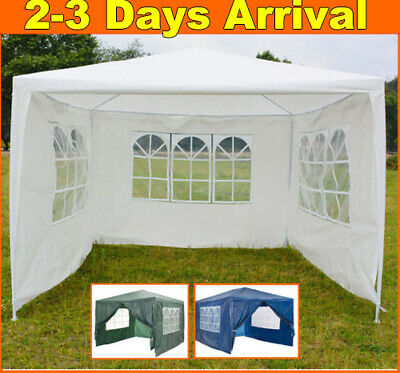 4 Sides Gazebo Marquee Party Tent Waterproof Garden Patio Outdoor Canopy 3x3m/6m