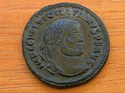Roman Empire - Diocletian 284-305 AD AE Follis Genius Ancient Roman Coin