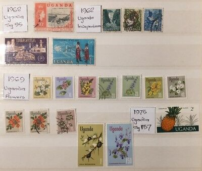 UGANDA - A Small Collection of  approx 24 different M & U stamps - 19/137