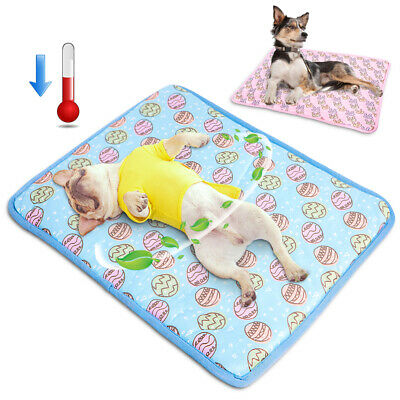Pet Dog Cooling Bed Mat Blanket Sleep Bed Non-Toxic Cooling Dog Summer Pad