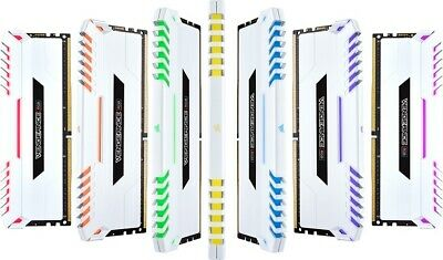 Corsair Vengeance RGB 16GB (2x8GB) DDR4 3000MHz C15 Desktop Gaming Memory Whi...