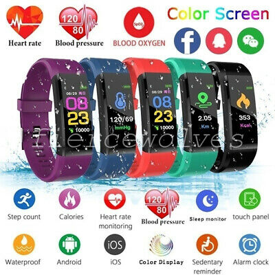 Sports Fitness Tracker Watch Waterproof Heart Rate Activity Monitor Fitbit style