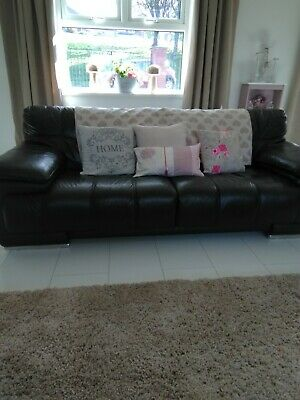 large black leather sofas two available seat 4