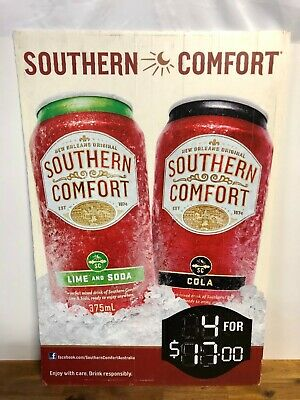Southern Comfort & Cola Can Alcohol Store Advertising Sign
