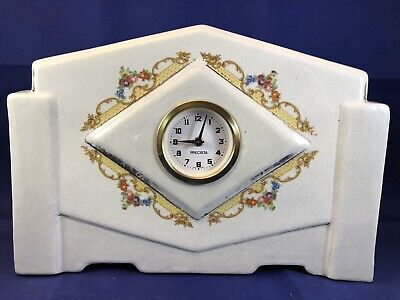Vintage China Mantle Clock Precista Rare Not Working German Movement
