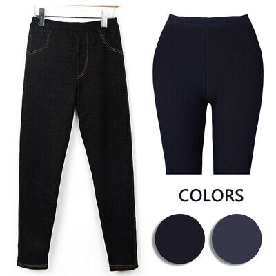 Women Ladies Autumn Winter Slim fit Pencil Pants Velvet Thicken Warm Leggings
