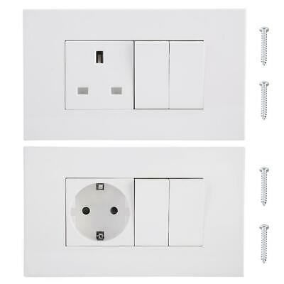 Wall Plug Socket  Electrical Switch Port Charger Outlet With Double Switch