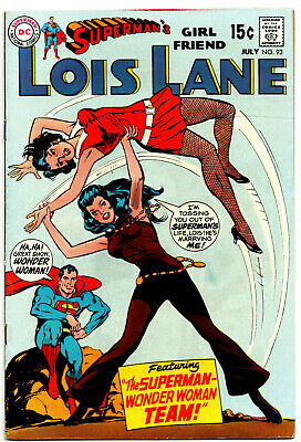 Superman's Girlfriend Lois Lane 93 - Wonder Woman App (Silver Age 1969) - 7.5