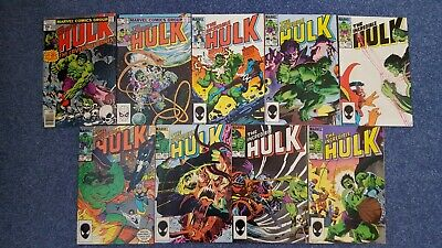 The Incredible Hulk Marvel Comics x34 job lot. Includes Alpha Flight. Near-mint.