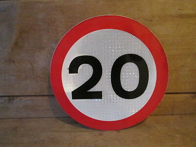 Small 20 MPH speed limit road sign. road sign. traffic sign.street sign