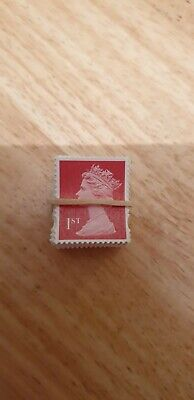 200 x 1st class security stamps, Unfranked, Off paper, no gum