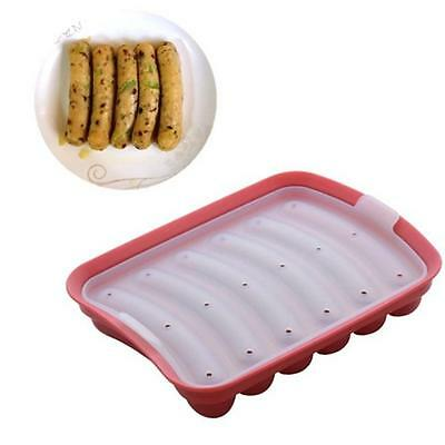 DIY Hot Dog Sausage Maker Silica Silicone Mould Home Bacon Making Tool IT