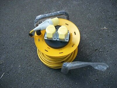 110v  cable extention  SMJ CR2516 25 Metre 16 Amp 2 Socket Cable Reel 110V