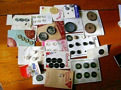 Mixed Lot Vintage Carded Buttons Sewing Crafts Cards  over 50 free shipping