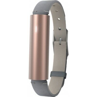 Misfit Ray Fitness Activity Tracker Sleep Monitor-Grey Leather Strap Rose Gold#£