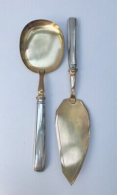 French Silver and Gilt Ice-cream Servers