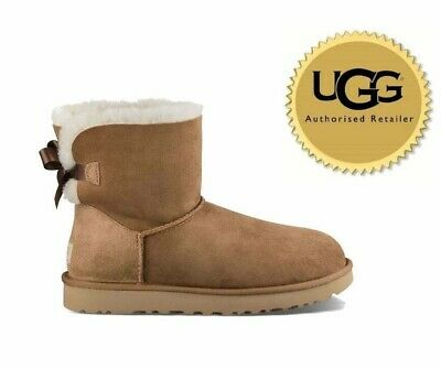 Ugg® Australia Mini Bailey Bow Crystal Black Boots Uk 8.5 Eu 41 Usa 10 Bnib £180 Clothing, Shoes & Accessories