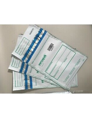 10 VersaSafe Tamper Evident Secure Mail Pouches 165x260mm Sequentially Numbered