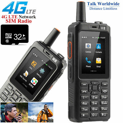 32GB Unlocked 4G LTE Android Rugged Smartphone Radio Walkie Talkie Dual SIM PTT