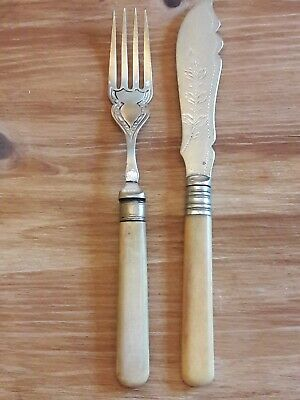Antique Silver Plated epns knive and fork