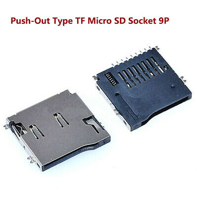 TF Micro SD Card Memory Card Push-Out Type Solder Socket 9P SMD/SMT Connector
