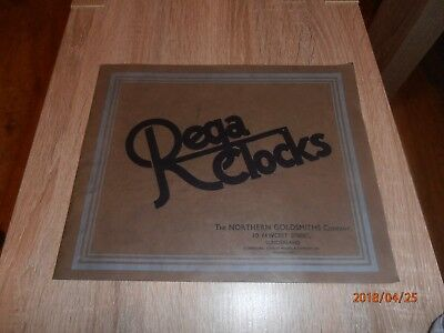 RARE 1930`s Art Deco Northern Goldsmiths Co. Sunderland - REGA CLOCKS Catalogue