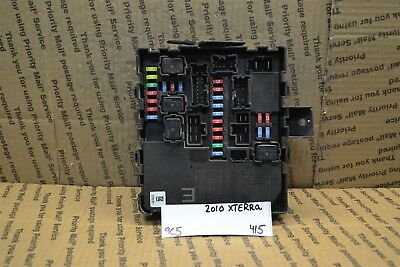 2010-2015 nissan xterra fuse box junction bcm 284b7ze03b module 415-9c5