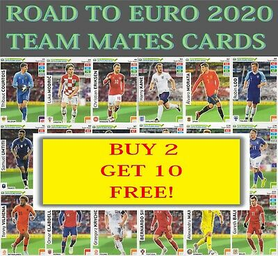Panini Adrenalyn XL Road to UEFA Euro 2020 Team Mates cards - Buy 2 get 10 FREE!