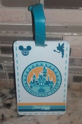 Disney Parks DISNEYLAND CA RESORT Luggage Tag ' Travel With Character ' ~ NEW