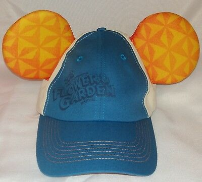 Auth DISNEY Parks EPCOT 2018 Flower & Garden Mickey Ears ADULT Baseball Hat NWT