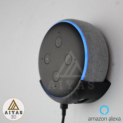 SOPORTE PARED - Sujeción Perfecta Amazon Echo Dot 3rd Generation 3D Printed