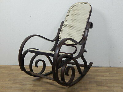 Superb bentwood swirls rocking chair armchair with bergere wicker woven seating