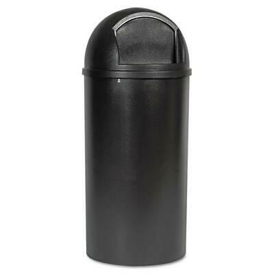 Rubbermaid Commercial Marshal Classic Container Round Polyethylene 25gal Black