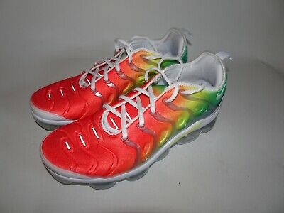 outlet store f9ed9 96b78 Nike Air Vapormax Plus Rainbow White Neptune Green Multicolor 924453-103 Sz  10