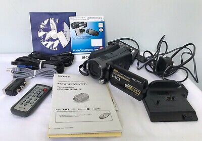 SONY HDR-SR12E 120GB Camcorder HandyCam & Extras Never Used Excellent Condition