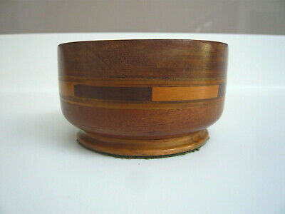 Lovely Vintage Multi-Layered Hand Turned Wooden Bowl