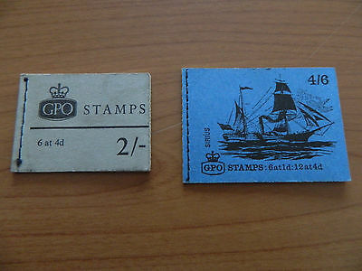 2 PRE-DECIMAL GPO STAMP BOOKS 2/- and 4/6 WITH ALL STAMPS IN MINT CONDITION