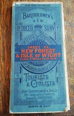 Bartholomew's New Reduced Survey, Sheet 33 New Forest & Isle Of White,