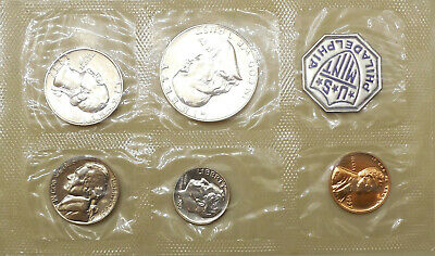 1957 5 coin Proof set with envelope all coins untoned red or white gems