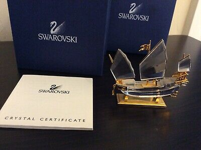 Swarovski Crystal Memories Journeys Chinese Junk Boat (Boxed)      A-0875-MY-W13
