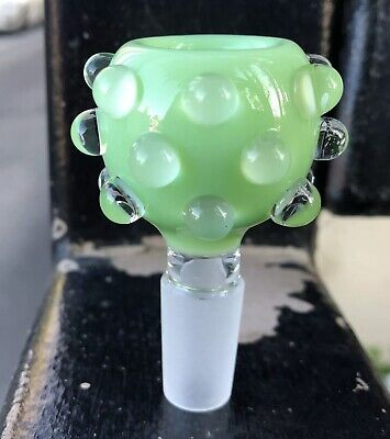 14mm / 18mm Green Slyme Bubble Male Glass Slide Bowl