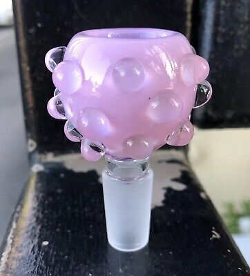 14mm / 18mm Pink Slyme Bubble Male Glass Slide Bowl